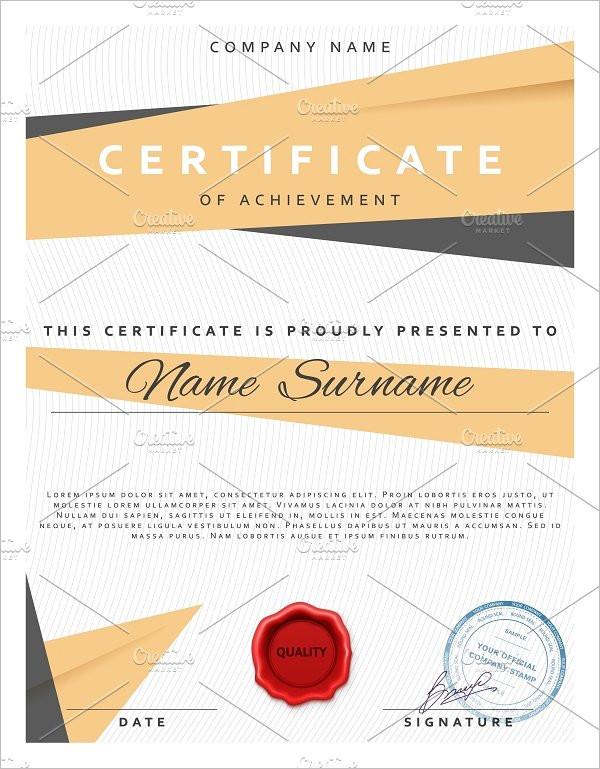 Blank Certificate Templates Free Premium Creative Template