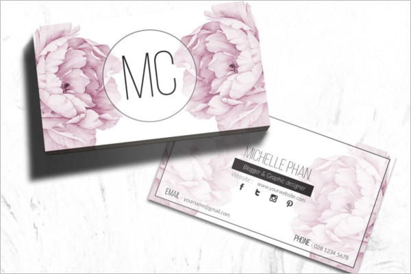 Printable Floral Business Card Template