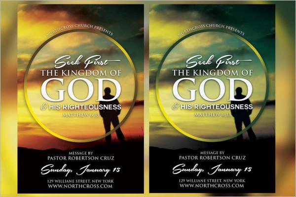 Printable Seek Church Flyer