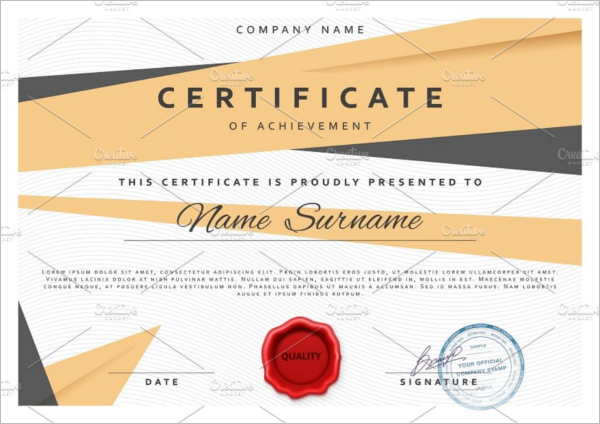 Printable Training Certificate Template