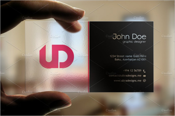 Printable Transparent Business Card