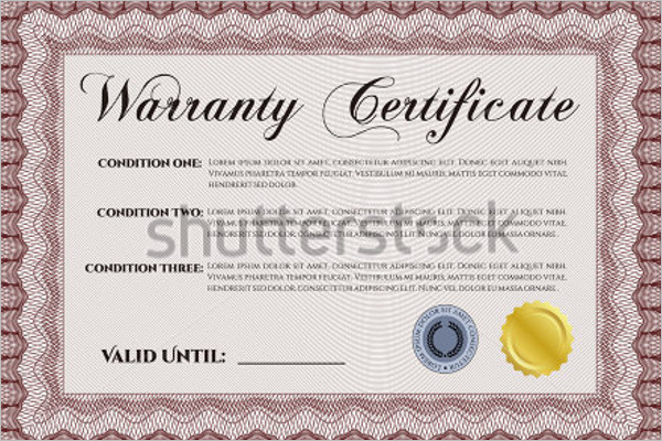 Printable Warranty Certificate Template