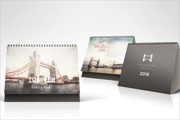 Professional Desk Calendar Mock Up