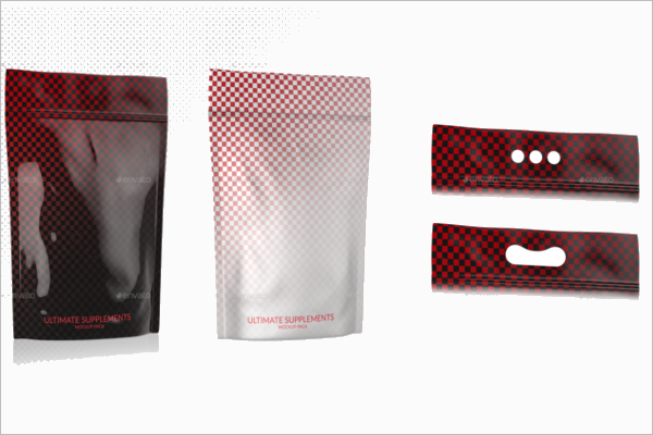 Protein Bags Mockup Template