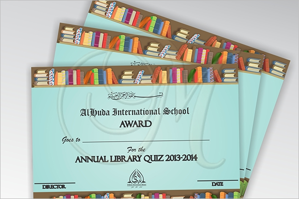 quiz certificate for kids