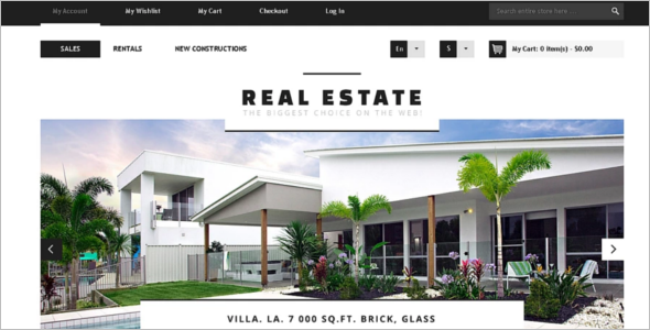 Real Estate Business Magento Theme
