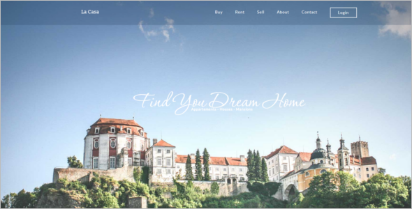 Real Estate jQuery Website Template