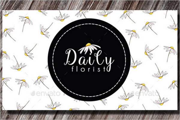 Realistic Florist Business Card Template