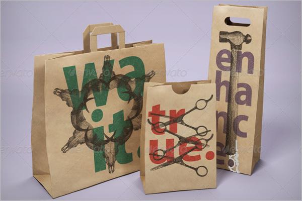 Realistic Mockup Bag Pack Template