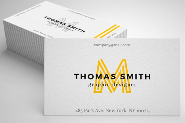 Realistic business card mockup