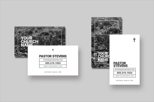 Regular Church Business Card Template