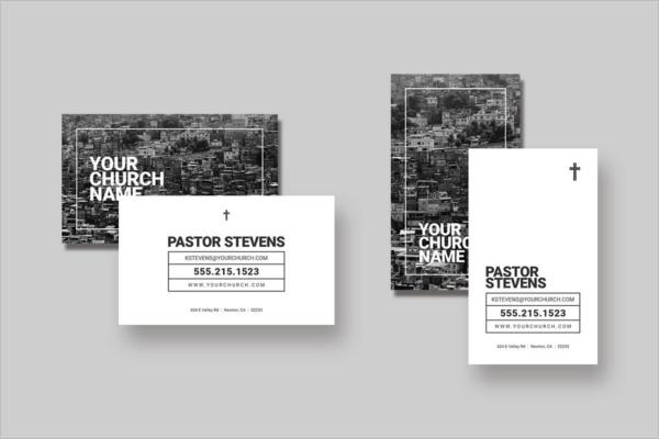 Regular Church Business Card Template