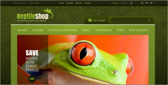Reptile Shop PrestaShop Theme