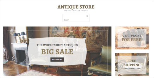 Responsive Antique OpenCart Template