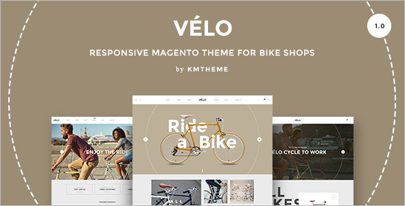 Responsive Bike Shops Magento Theme