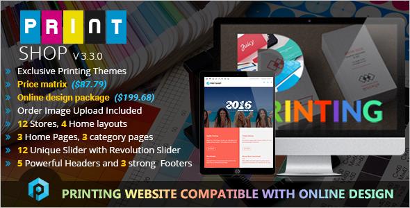 Responsive Business Magento Printing Theme