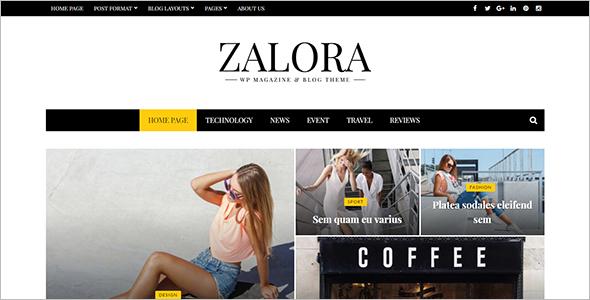 Responsive Fashion Magazine Blog Theme