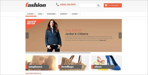 Responsive Fashion Store OpenCart Template