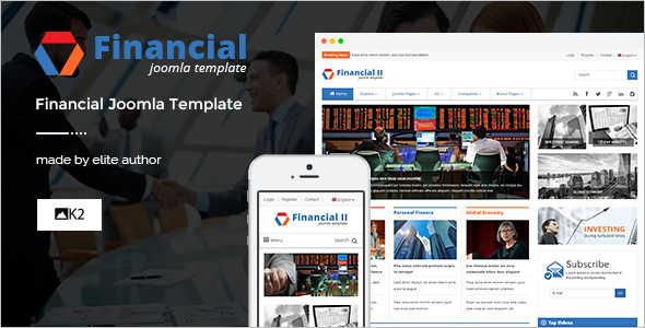 Responsive Financial News Joomla Theme
