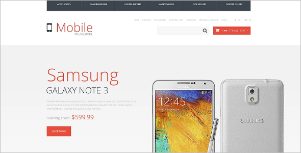 Responsive Mobile Store OpenCart Template