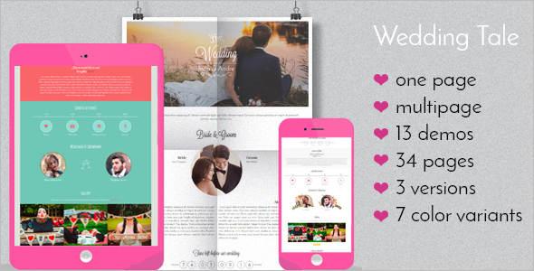 Responsive New Wedding HTML Template
