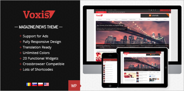 Responsive News Blog Magazine Template