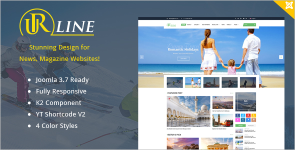 Responsive Travel News Joomla Template