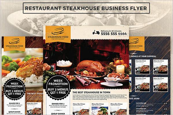 Restaurant Steak House Advertising Business Flyer
