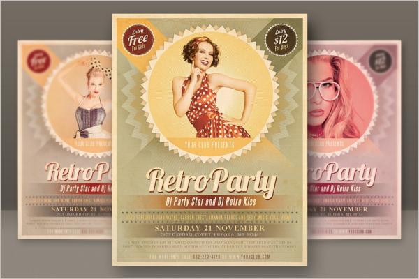 Retro Advertisement Posters Template