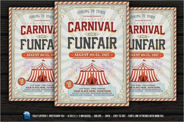 Retro Carnival Flyer
