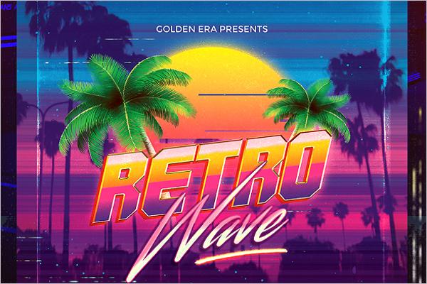 Retro Wave Music Flyer