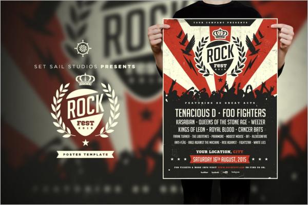 Rock Fest Music Poster