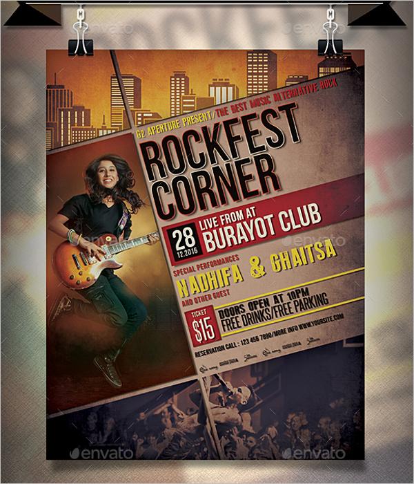 Rock Music Poster Design