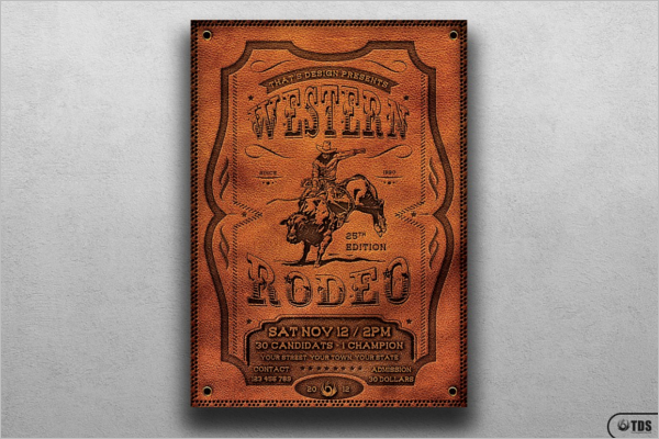 Rodeo Horce Flyer Design