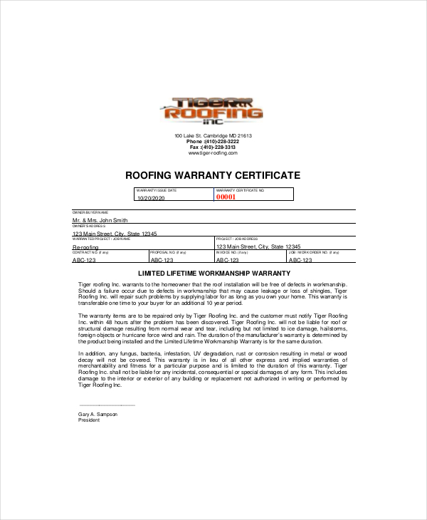 Warranty Certificate Templates || Free & Premium Templates