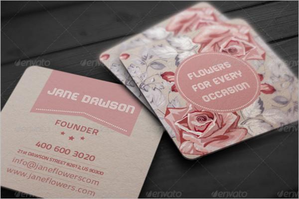 Rose Flower Shop Card Design