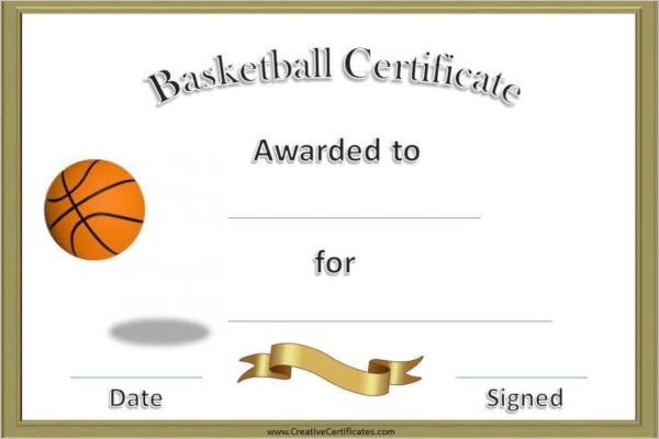14+ Basketball Certificate Templates Free & Premium