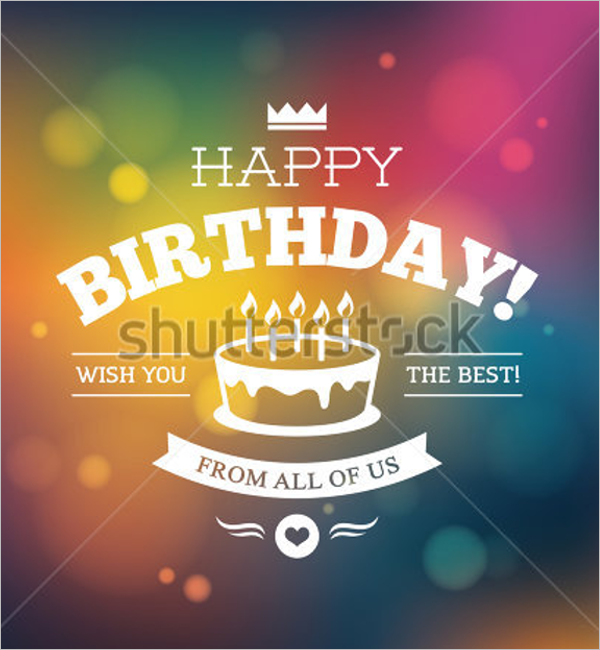 Sample Birthday Poster Template