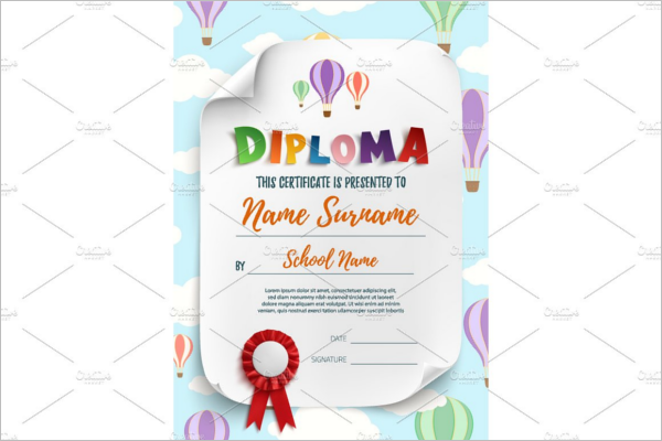 Sample Certificates for Kids