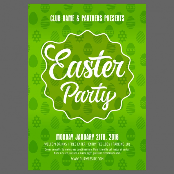 Sample Easter Poster Design