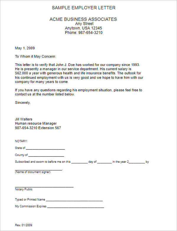 Sample Salary Certificate Template