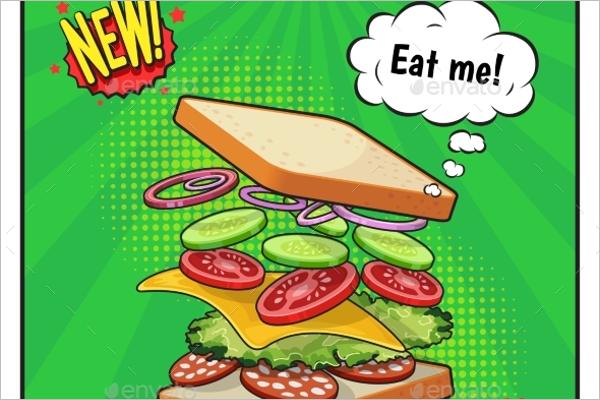 Sandwich Advertising Poster Design