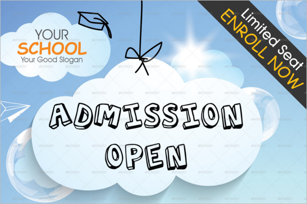 School Admission Poster