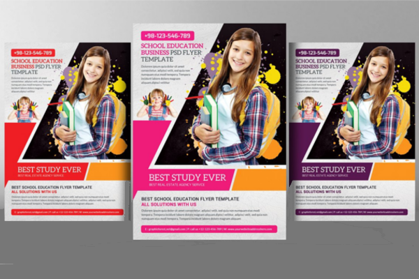 School Advertisement Posters Template