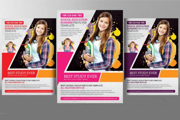 school advertisement posters template