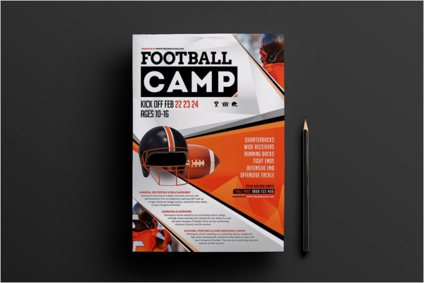 School Foot Ball Camp Poster