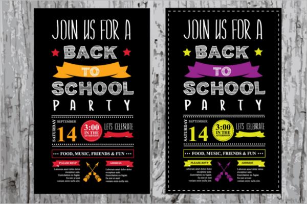 School Party Invitation