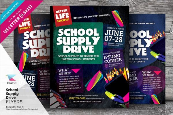 School Supply Drive Template