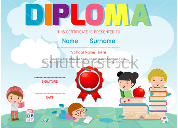School Training Course Certificate Template