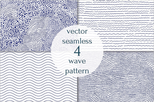 Seamless Blue Wave Pattern